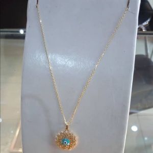 Jewelry - Necklace and 18 karat real saudi gold with pendant